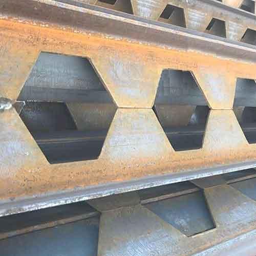 روش ساخت تیرآهن لانه زنبوری